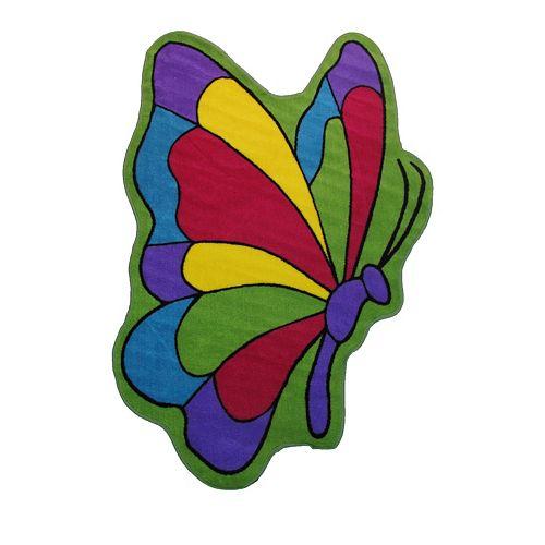 Fun Rugs Fun Time Shape Butterfly Flight Rug - 3'3'' x 4'10''