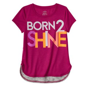 Girls 7-16 & Plus Size SO® Glow-in-the-Dark Graphic Blocked Droptail Dolman Tee