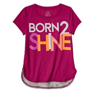 Girls 7-16 & Plus Size SO® Glow-in-the-Dark Graphic Blocked Droptail Dolman Tee