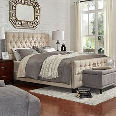 HomeVance Montclair Button Tufted Bed