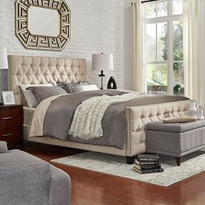 HomeVance Montclair Button Tufted Platform Bed
