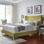 HomeVance Miramar Mid Century Button Tufted Bed