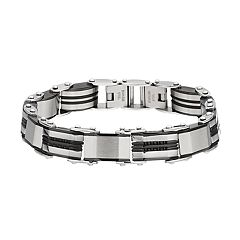 Two Tone Stainless Steel Reversible Men's Bracelet