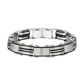 Two Tone Stainless Steel Reversible Men's Bracelet