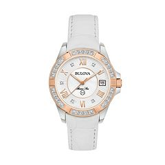 Bulova Women's Marine Star Diamond Leather Watch - 98R233