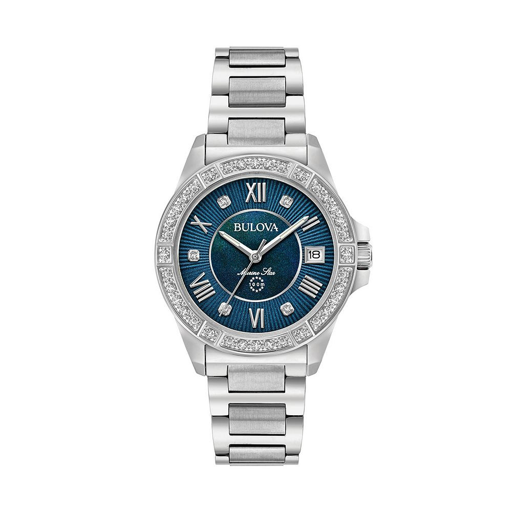 fbfc5d408004 Bulova Women s Marine Star Diamond Stainless Steel Watch - 96R215