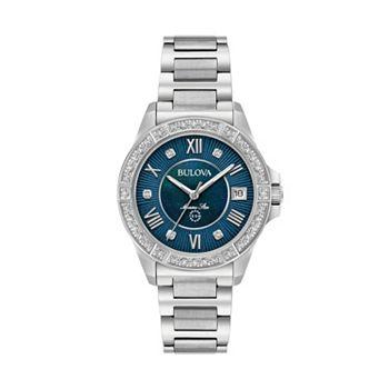 72345126363 Bulova Women s Marine Star Diamond Stainless Steel Watch - 96R215