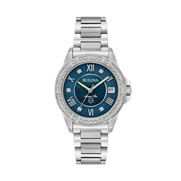 Bulova Women's Marine Star Diamond Stainless Steel Watch - 96R215
