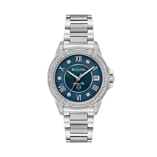 Bulova Women's Marine Star Diamond Stainless Steel Watch - 96R215