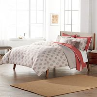 SONOMA Goods for Life™ 3-piece Jasmine Woodblock Floral Duvet Cover Set