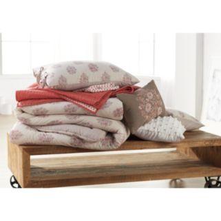 SONOMA Goods for Life™ 3-piece Jasmine Woodblock Floral Duvet Cover Set