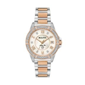 Bulova Women's Marine Star Diamond Two Tone Stainless Steel Watch - 98R234