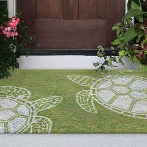 Liora Manne Front Porch Capri Turtle Indoor Outdoor Rug