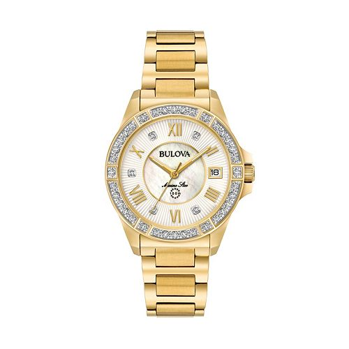 Bulova Women's Marine Star Diamond Stainless Steel Watch - 98R235