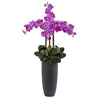nearly natural Phalaenopsis Orchid Artificial Floral Arrangement