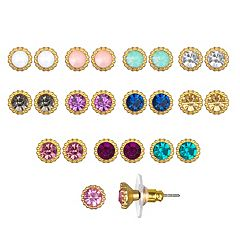 LC Lauren Conrad Circle Stud Earring Set