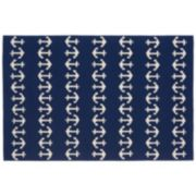 Liora Manne Front Porch Capri Anchor Indoor Outdoor Rug