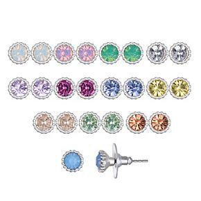 LC Lauren Conrad Simulated Crystal Stud Earring Set
