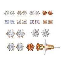 LC Lauren Conrad Tri Tone Stud Earring Set