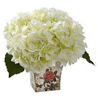 nearly natural Hydrangea Silk Artificial Floral Arrangement