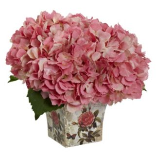 nearly natural Hydrangea Silk Artificial Floral Arrangement