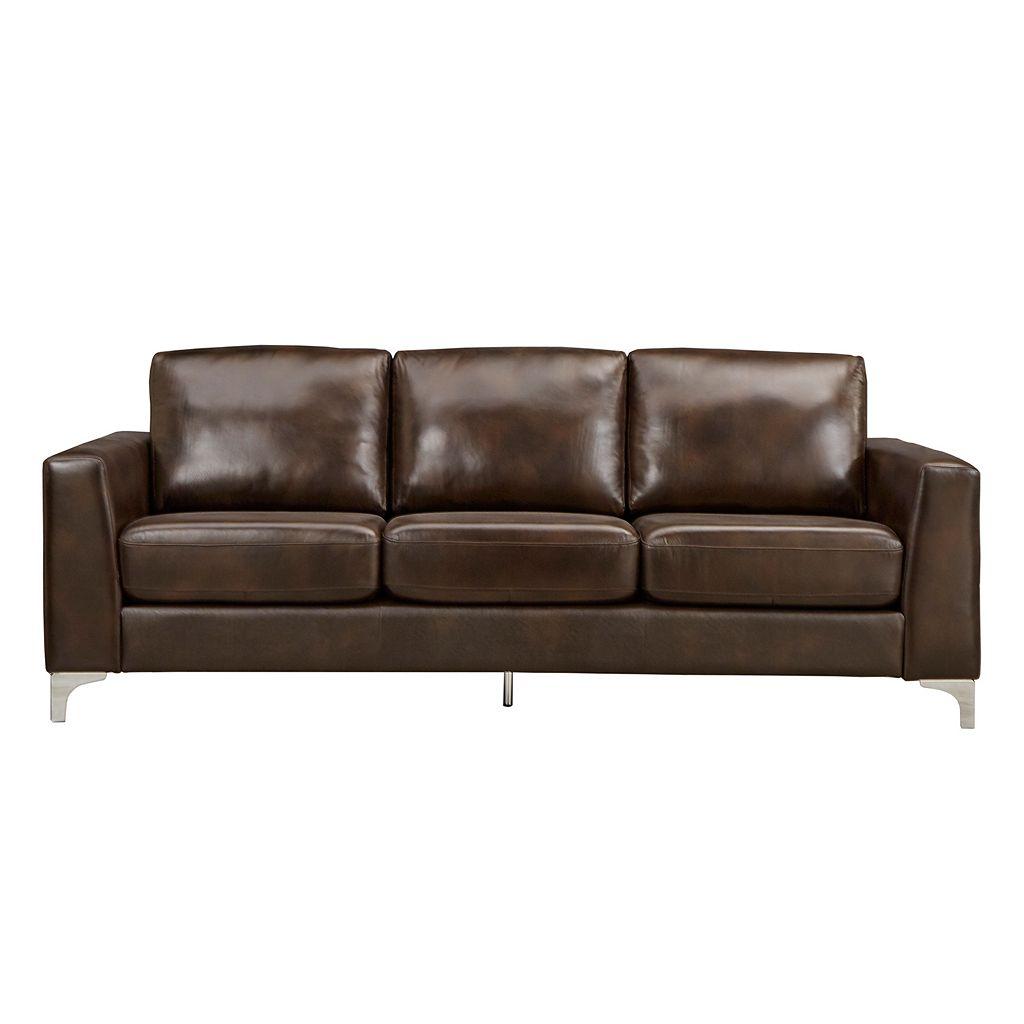 HomeVance Casero Leather Sofa