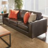 HomeVance Casero Leather Sofa