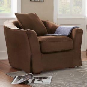 HomeVance Serenata Slip Covered Arm Chair