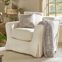 HomeVance Serenata Slip Covered Arm Chair