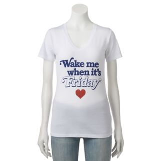 "Juniors' ""Wake Me When It's Friday"" Graphic Tee"