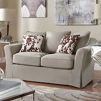 HomeVance Serenata Slip Covered Loveseat