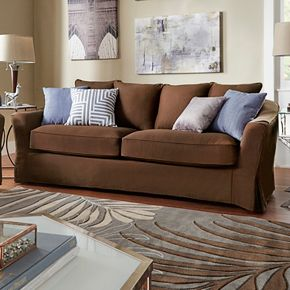 HomeVance Serenata Slip Covered Sofa