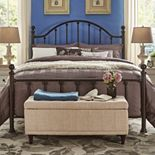 HomeVance Samantha Victorian Metal Poster Bed