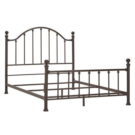 HomeVance Samantha Victorian Metal Poster Bed