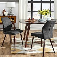 HomeVance Lindholm 2-pc. Scandinavian Angled Dining Chair Set