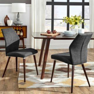 HomeVance Lindholm 2-pc. Scandinavian Angled Dining Chair Set