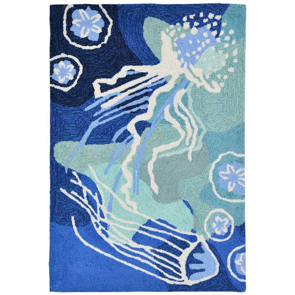 Trans Ocean Imports Liora Manne Front Porch Capri Jellyfish Indoor Outdoor Rug