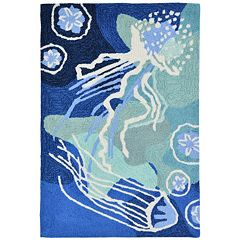 Liora Manne Front Porch Capri Jellyfish Indoor Outdoor Rug