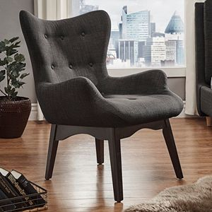 HomeVance Cadley Danish Mod Button Tufted Accent Chair