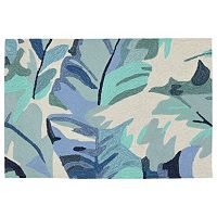 Liora Manne Front Porch Capri Palm Leaf Indoor Outdoor Rug