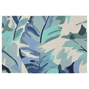 Liora Manne Front Porch Capri Palm Leaf Indoor Outdoor Rug