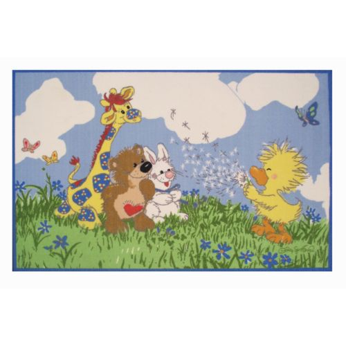 """Fun Rugs Little Suzy's Zoo Witzy Makes A Wish Rug – 3'3"""" x 4'10"""""""