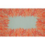 Trans Ocean Imports Liora Manne Front Porch Spello Coral Border Indoor Outdoor Rug