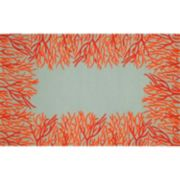 Liora Manne Front Porch Spello Coral Border Indoor Outdoor Rug