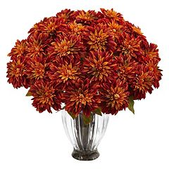 nearly natural Silk Dahlia Artificial Floral Arrangement