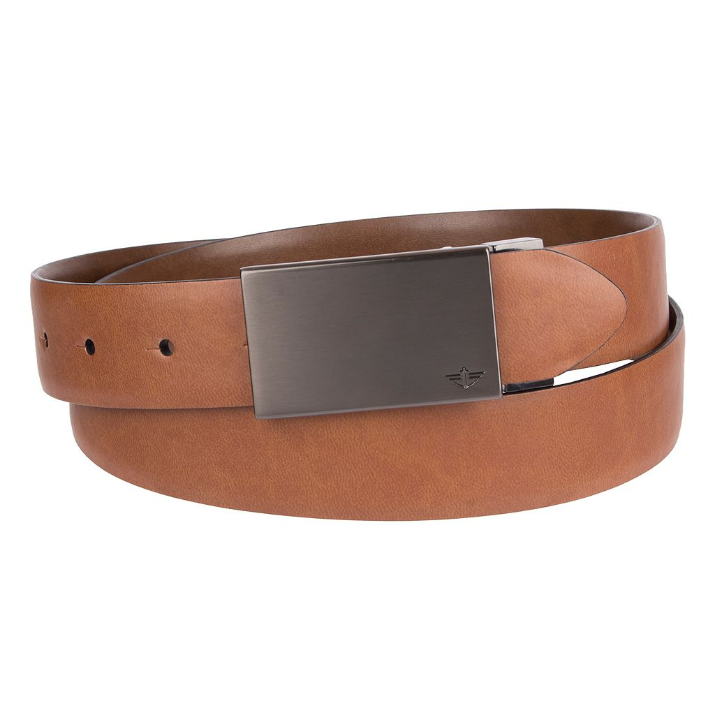 Men's Dockers Reversible Feather-Edge Plaque-Buckle Belt