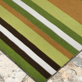 Liora Manne Front Porch Sorrento Tribeca Striped Indoor Outdoor Rug