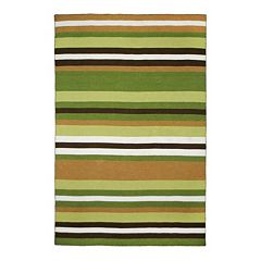 Liora Manne Front Porch Sorrento Tribeca Striped Indoor Outdoor Rug