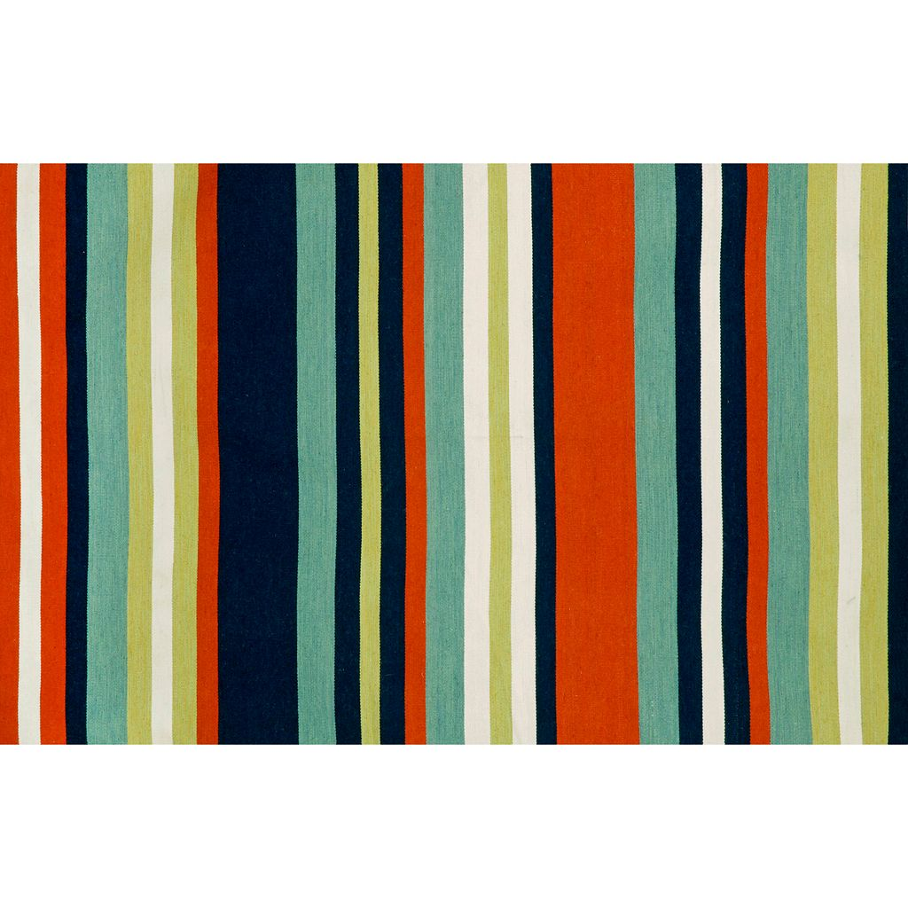 Trans Ocean Imports Liora Manne Front Porch Sorrento Tribeca Striped Indoor Outdoor Rug