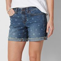 Petite SONOMA Goods for Life™ Star Cuffed Jean Shorts